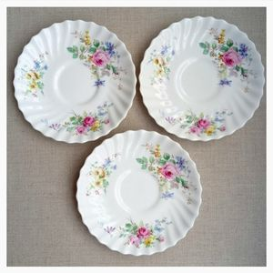 Royal Doulton Arcadia Pattern Saucer - Set of 3
